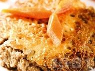 Рецепта Постна вегетарианска мусака без заливка и без пържене със соева кайма (гранули), гъби, картофи и сирене тофу